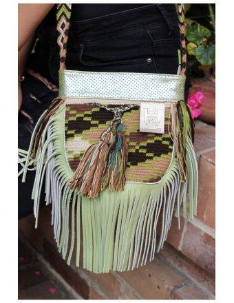 Ins moda mujer bolsos verdes mujer marca ancho correa bandoleras 9236